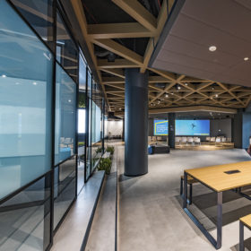 Project: EY Wavespace | Product: Shoreditch Edition with Kinetic doors and screen